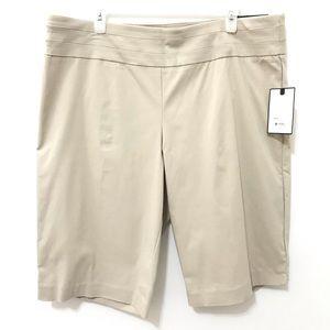 Womens Plus Size XL Khaki Shorts New Knee Waist 38